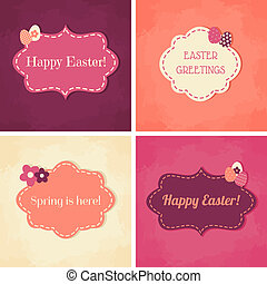 Easter Greeting Cards Collection - A set of Easter greeting...