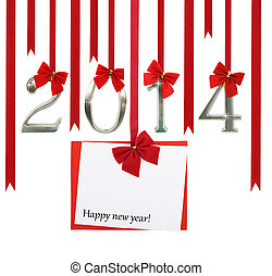 The new year 2014 card