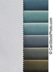 azul, Amostras, cor, fundo, tons, tecido