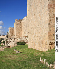 Defensive wall of the holy Jerusalem