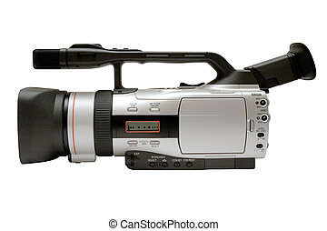 Digital Video Camera Side View with Clipping Path