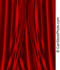 Red Satin fabric background