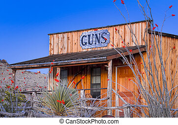 Buliding form the Old West - Vintage building in West Texas...