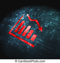 Business concept: Decline Graph on digital background -...