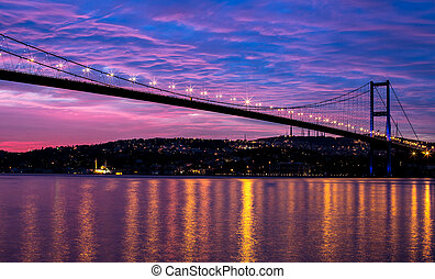 Bosporus Bridge - sunrise at the bosporus bridge