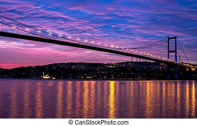 Bosporus Bridge - sunrise at the bosporus bridge