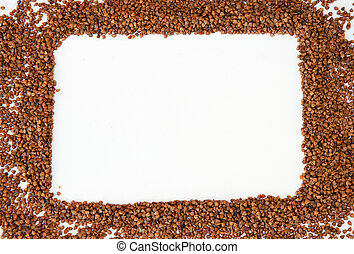 Frame made of buckwheat