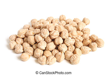 Chickpea on a white background