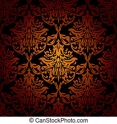 seamless warm wallpaper - Red orange and black seamless...