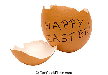 Happy Easter Egg with Clipping Path