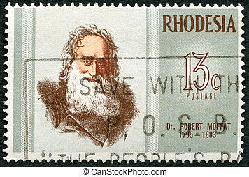 RHODESIA - CIRCA 1972: A stamp in Rhodesia shows Dr Robert...
