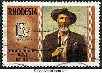 RHODESIA - CIRCA 1971: A stamp in Rhodesia shows Frederick...
