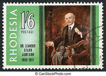 RHODESIA - CIRCA 1967: A stamp in Rhodesia shows Dr. Leander...