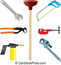 Plumbers Tools,Adjustable Spanner,Wrench,Pipe Wrench,Blow...