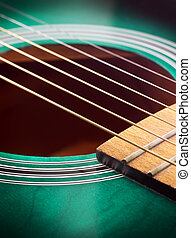 Guitar close up - Close-up guitar body with sound hole and...