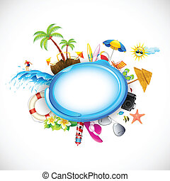 Vacation on Sea Beach - illustration of vacation on sea...