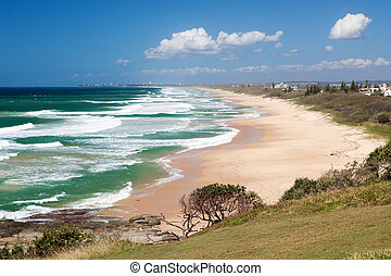 Caloundra beach from Point Cartwright, Queensland - Looking...