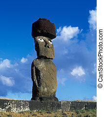 Easter island - Monument on famous Easter island