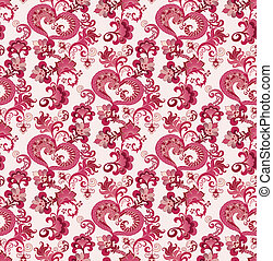 fantasy pattern in pink  colors