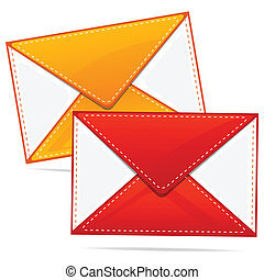Colorful Envelope - illustration of envelope isolated on...