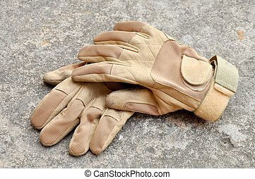 Leather gloves for riding motorcycles and shooting guns