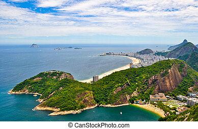 Rio de Janeiro - Aerial view of Rio de Janeiro from the...