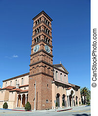 Romanesque bell tower - Beautiful Romanesque campanile bell...