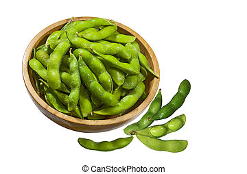 Soybeans edamame - Soybean Soy beans edamame nibbles in...