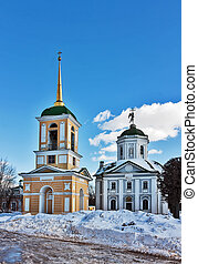 Kuskovo, Moscow - Church and bell tower in Kuskovo estate in...