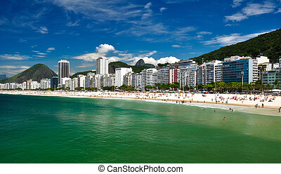 Copacabana Beach - Aerial view of Copacabana beach