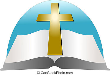 Bible and a Cross Vector - The holy book Bible and a cross...