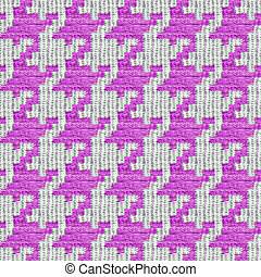 Pink and White Houndstooth