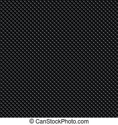 Dark Carbon Fiber - Highly detailed illustration of a carbon...