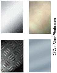 set of 4 metal backgrounds