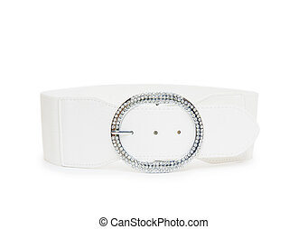 belt white color isolated