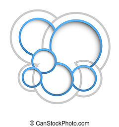 Abstract web design bubbles
