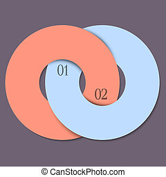 Two circles - trendy design template for infographics and...