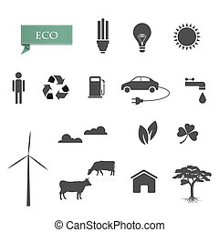 Vector collection of eco-icons
