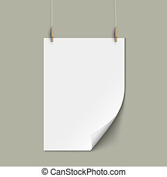 Vector empty paper sheet