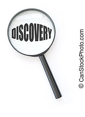 Discover - Magnifying glass focused on the word discovery