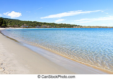 Summer resort at Halkidiki, Greece - Koursaros beach and...