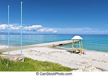 Summer resort at Halkidiki, Greece - Kallithea summer resort...