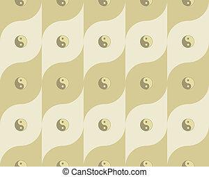 pattern with yin yang symbols - seamless pattern with yin...