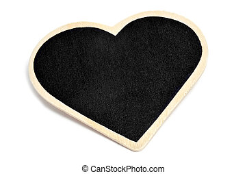 heart-shaped blackboard - a heart-shaped blackboard on a...