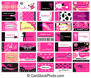 Business Cards - Set Of 35 Business Cards for lady