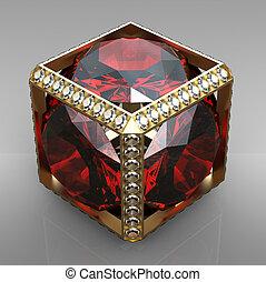 cubo, jóia, Pedra preciosa