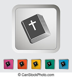 Bible single icon Vector illustration