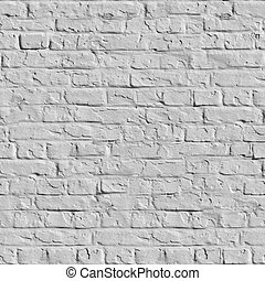White Brick Wall Seamless Texture. - Old White Brick Wall....