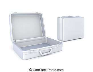 Suitcases Isolated on white background3d rendered...