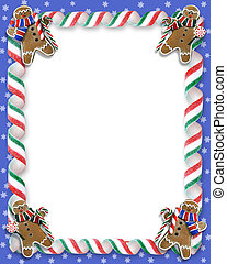 Christmas Cookies and Candy Border - Image and illustration...